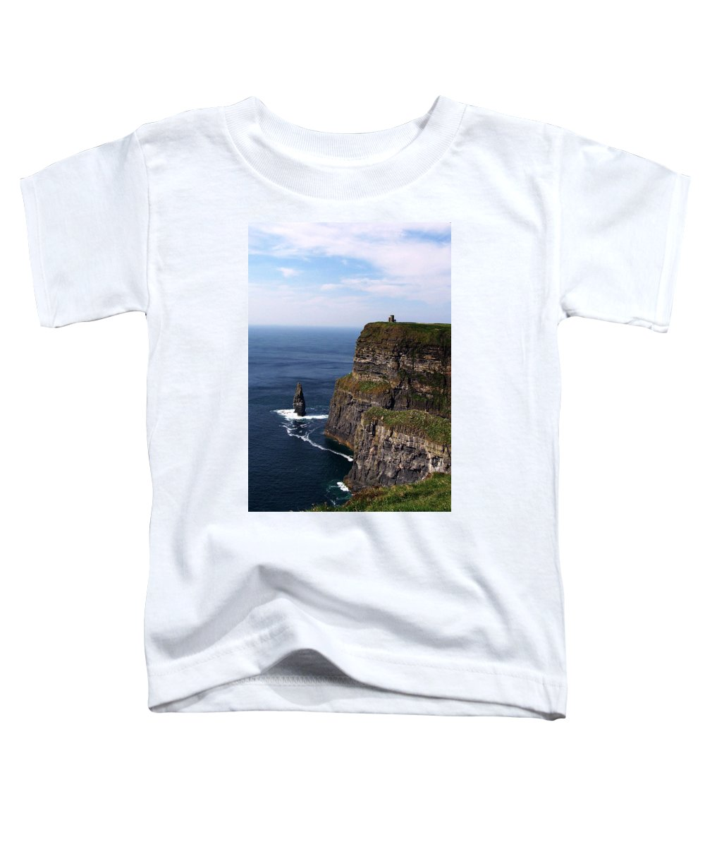 Irish Toddler T-Shirt featuring the photograph Cliffs Of Moher County Clare Ireland by Teresa Mucha