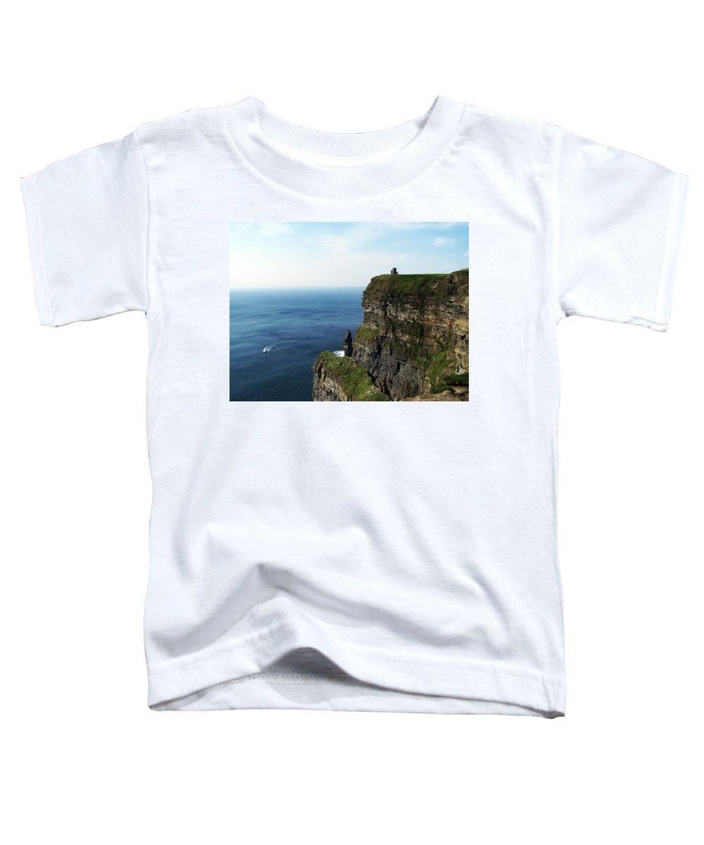 Irish Toddler T-Shirt featuring the photograph Cliffs Of Moher Ireland by Teresa Mucha
