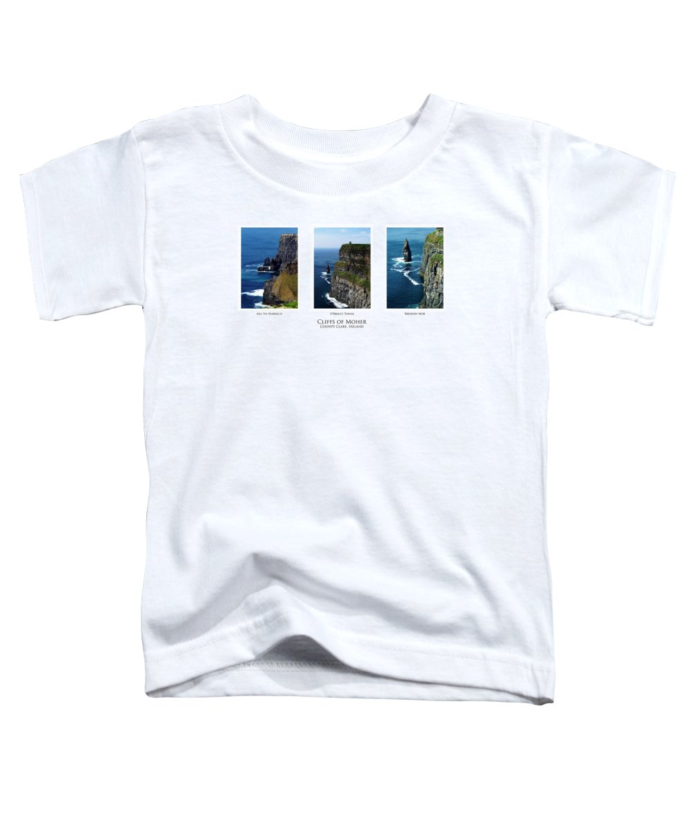 Irish Toddler T-Shirt featuring the photograph Cliffs Of Moher Ireland Triptych by Teresa Mucha