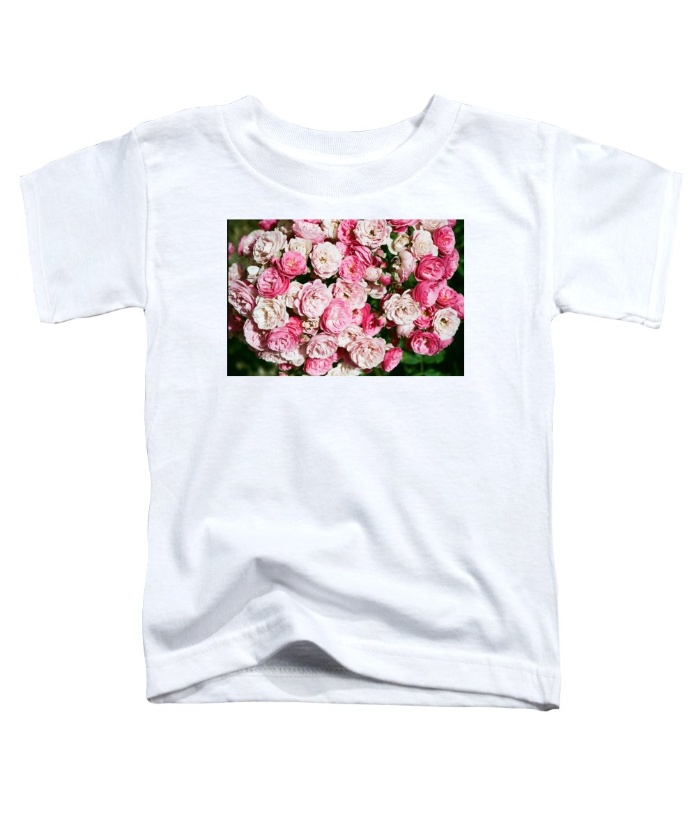Rose Toddler T-Shirt featuring the photograph Cluster Of Roses by Dean Triolo