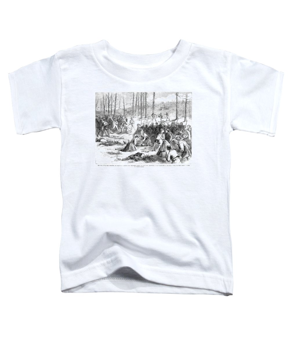 1871 Toddler T-Shirt featuring the photograph Coal Miner Strike, 1871 by Granger
