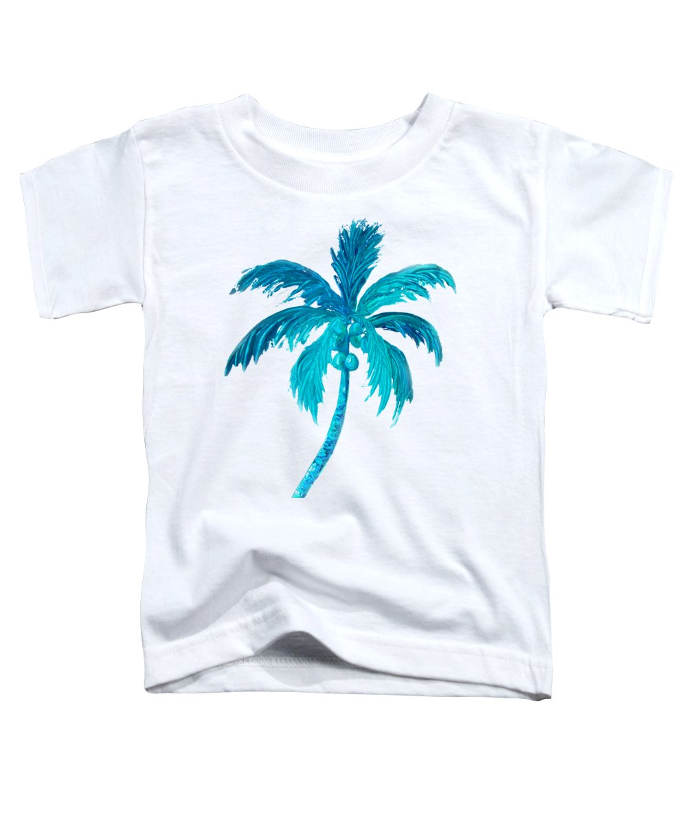 Coconut Palm Toddler T-Shirt featuring the painting Coconut Palm Tree by Jan Matson