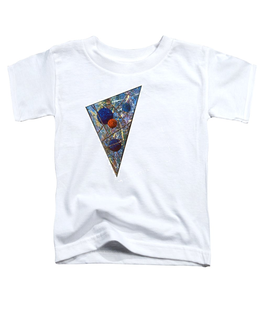 Abstract Toddler T-Shirt featuring the painting Continuum 3 by Micah Guenther