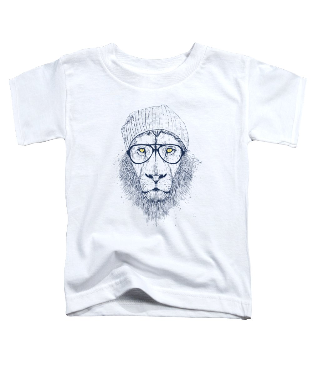 Lion Toddler T-Shirt featuring the digital art Cool Lion by Balazs Solti