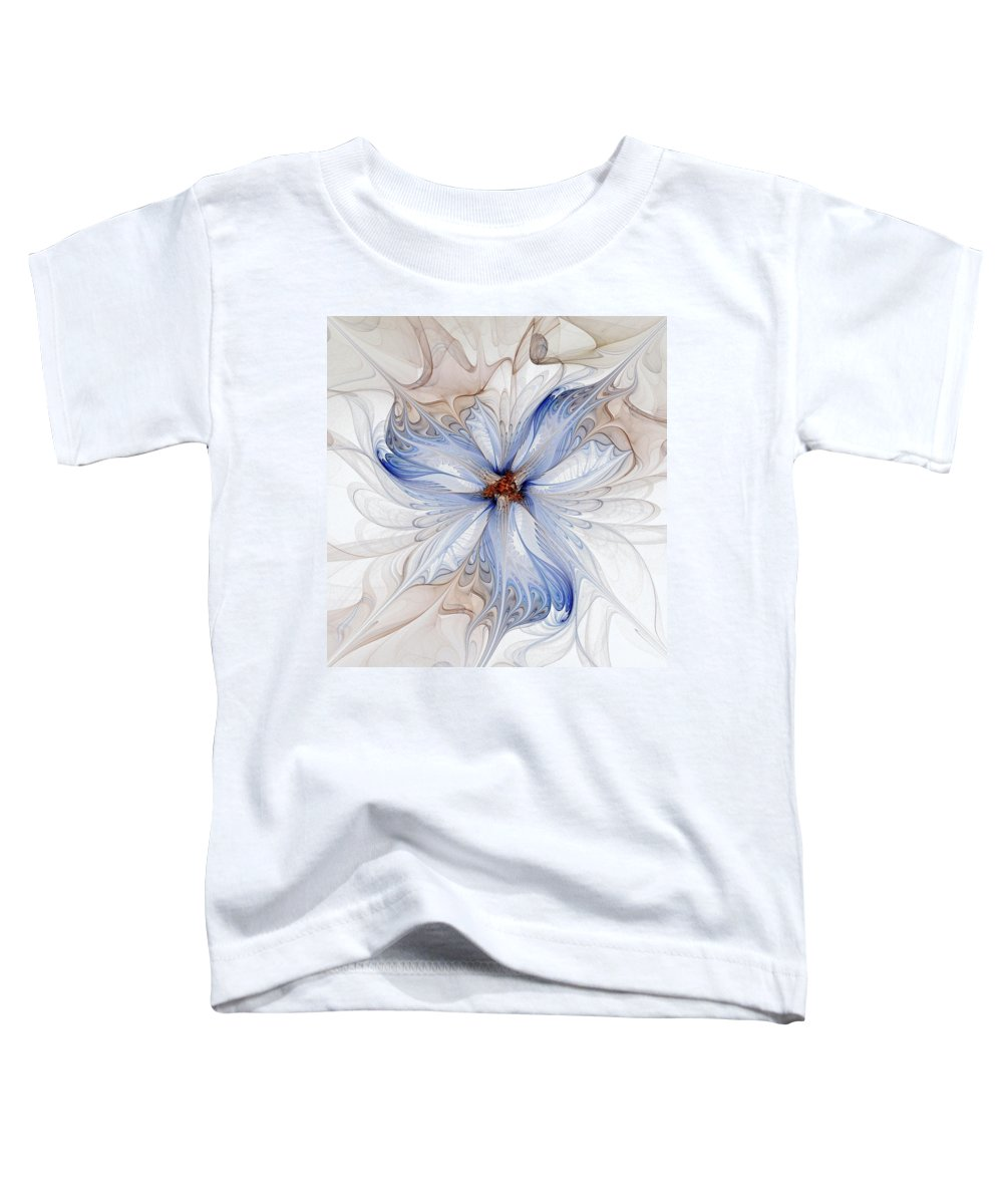 Digital Art Toddler T-Shirt featuring the digital art Cornflower Blues by Amanda Moore