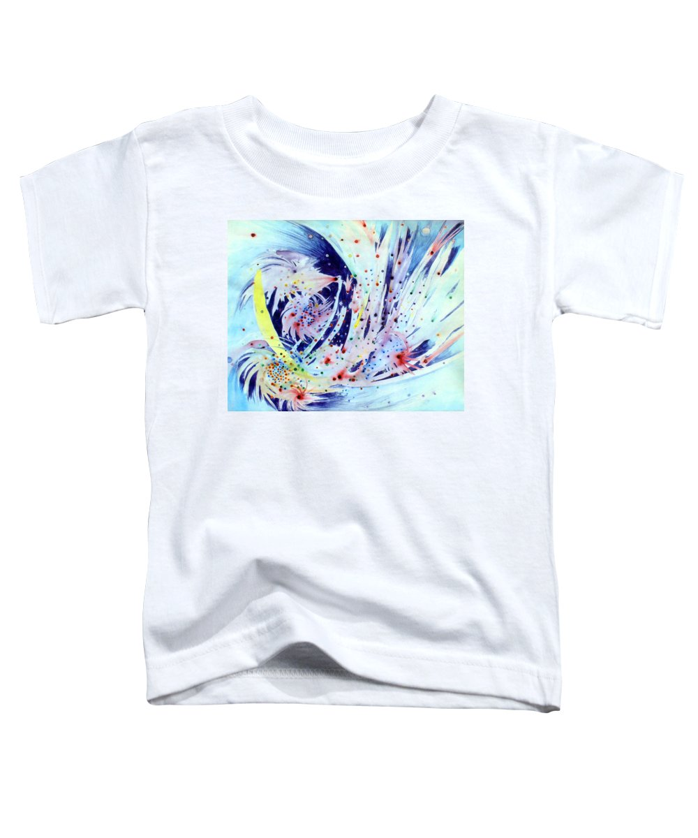 Abstract Toddler T-Shirt featuring the painting Cosmic Candy by Steve Karol