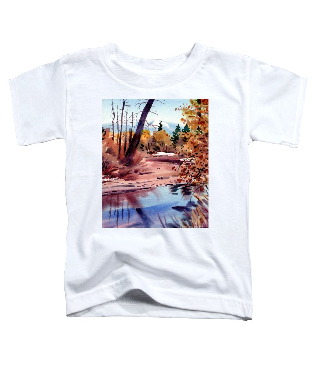Cottonwood Trees Toddler T-Shirt featuring the painting Cottonwoods In October by Donald Maier