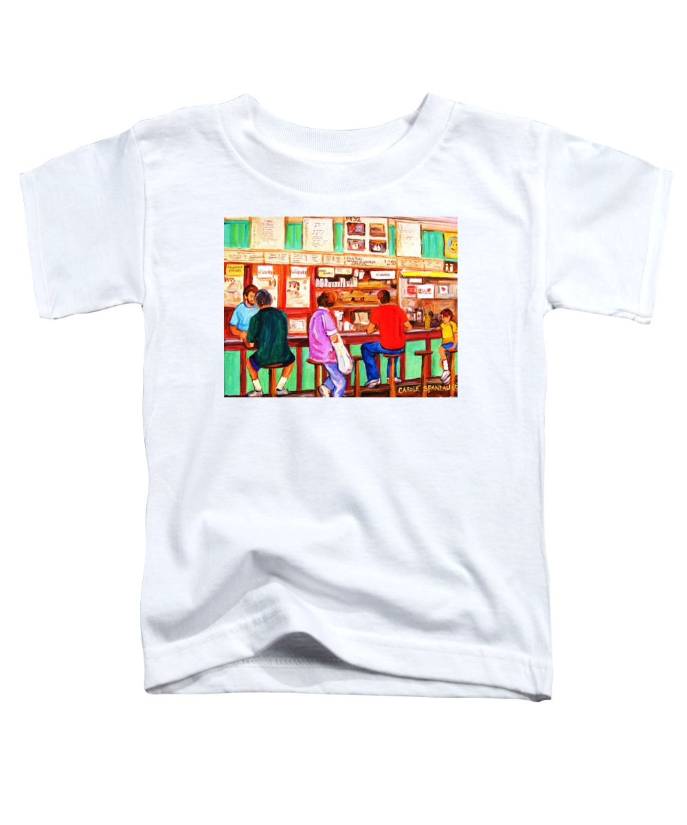 Montreal Toddler T-Shirt featuring the painting Counter Culture by Carole Spandau
