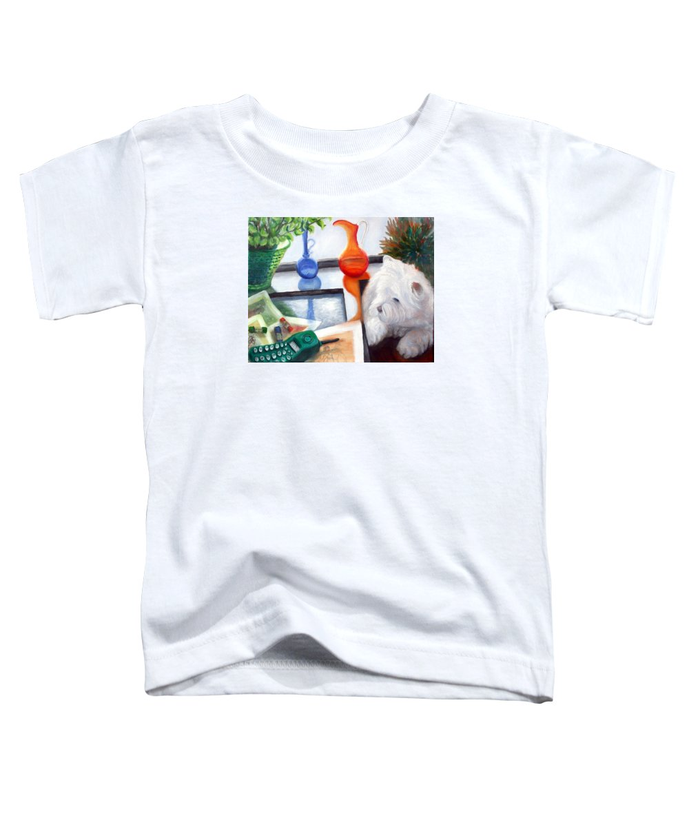 Dog Toddler T-Shirt featuring the painting Creative Reflections by Minaz Jantz