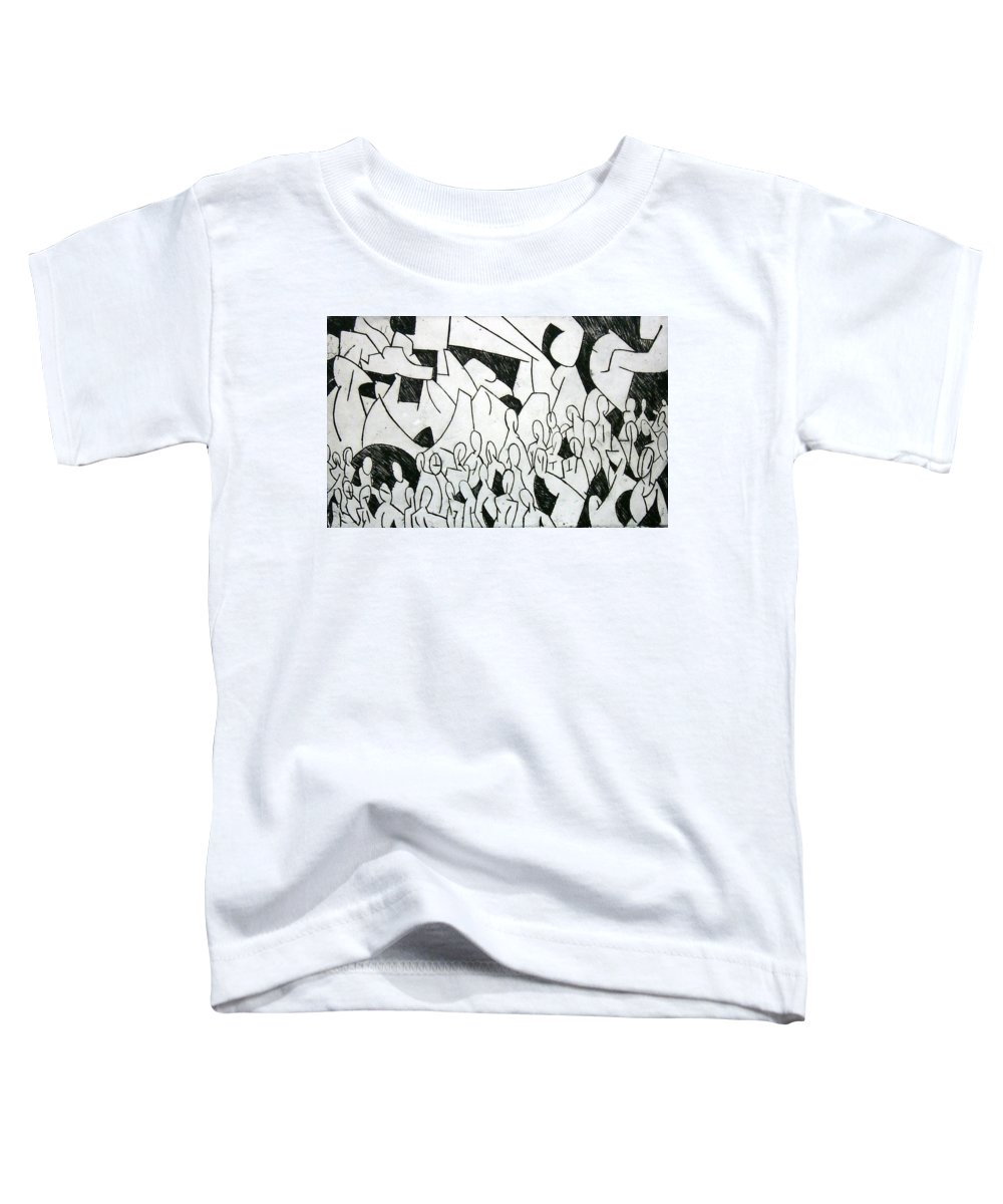 Etching Toddler T-Shirt featuring the print Crowd by Thomas Valentine