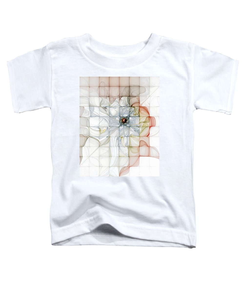 Digital Art Toddler T-Shirt featuring the digital art Cubed Pastels by Amanda Moore