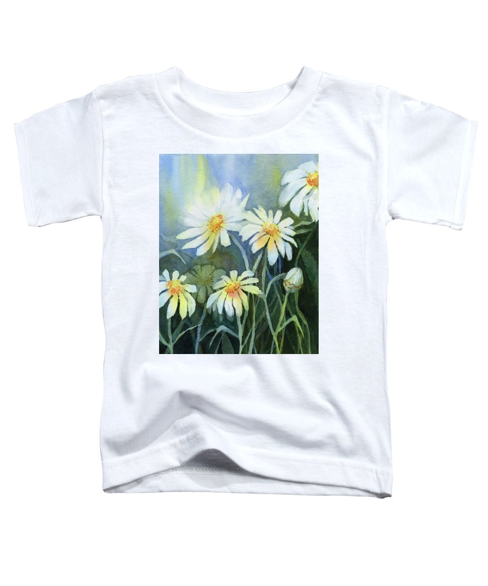 Daisies Toddler T-Shirt featuring the painting Daisies Flowers by Olga Shvartsur