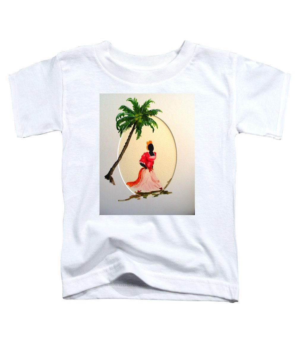 Caribbean Dancer Toddler T-Shirt featuring the painting Dancer 1 by Karin Dawn Kelshall- Best
