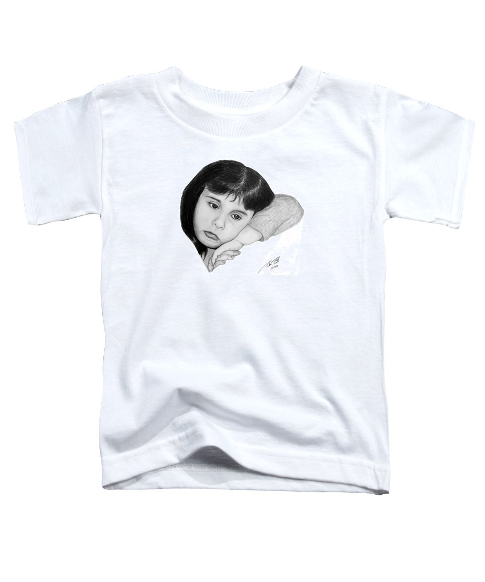 Portrait Sketch Toddler T-Shirt featuring the drawing Dannie by Peter Piatt