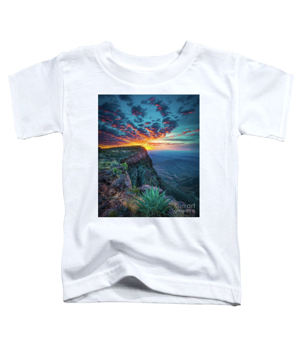 America Toddler T-Shirt featuring the photograph Dawn In The Chisos by Inge Johnsson