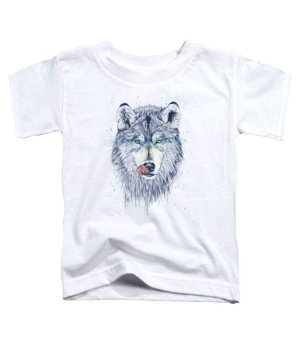 Animal Toddler T-Shirt featuring the drawing Dinner time by Balazs Solti