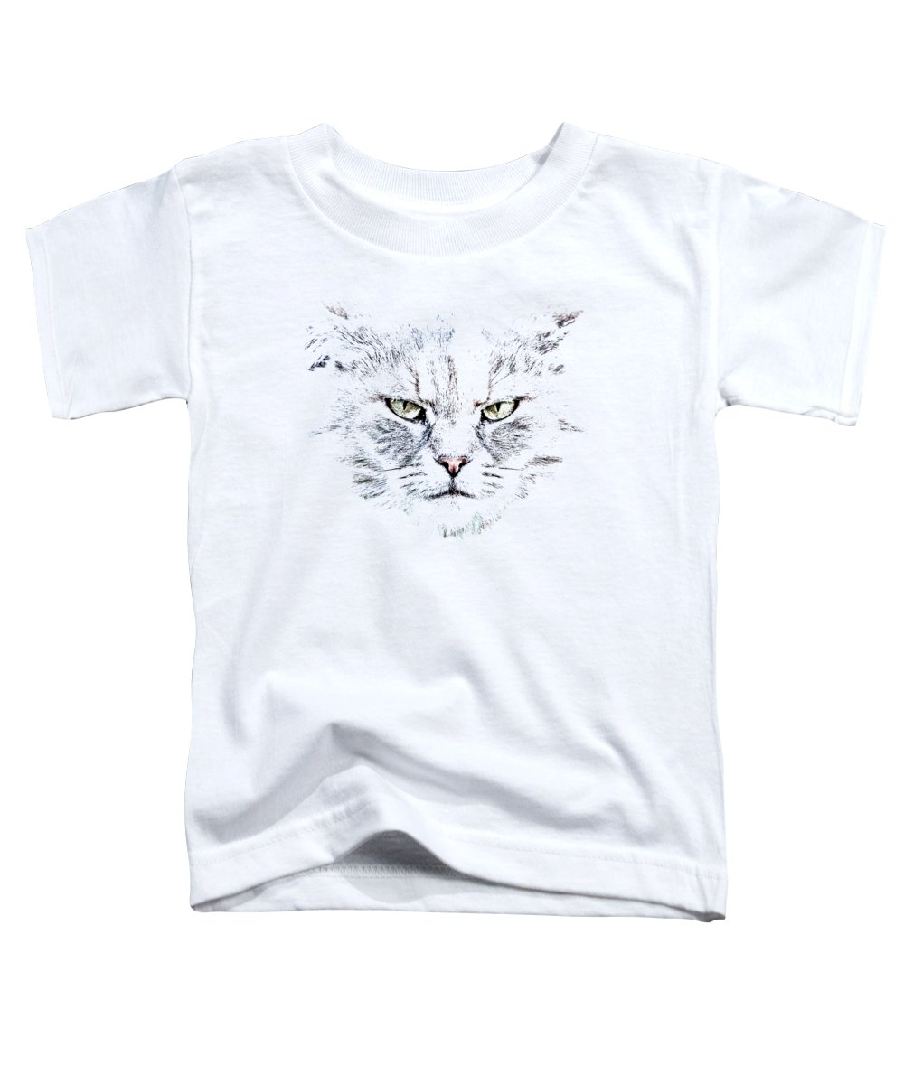 Cat Toddler T-Shirt featuring the photograph Disturbed Cat by Everet Regal