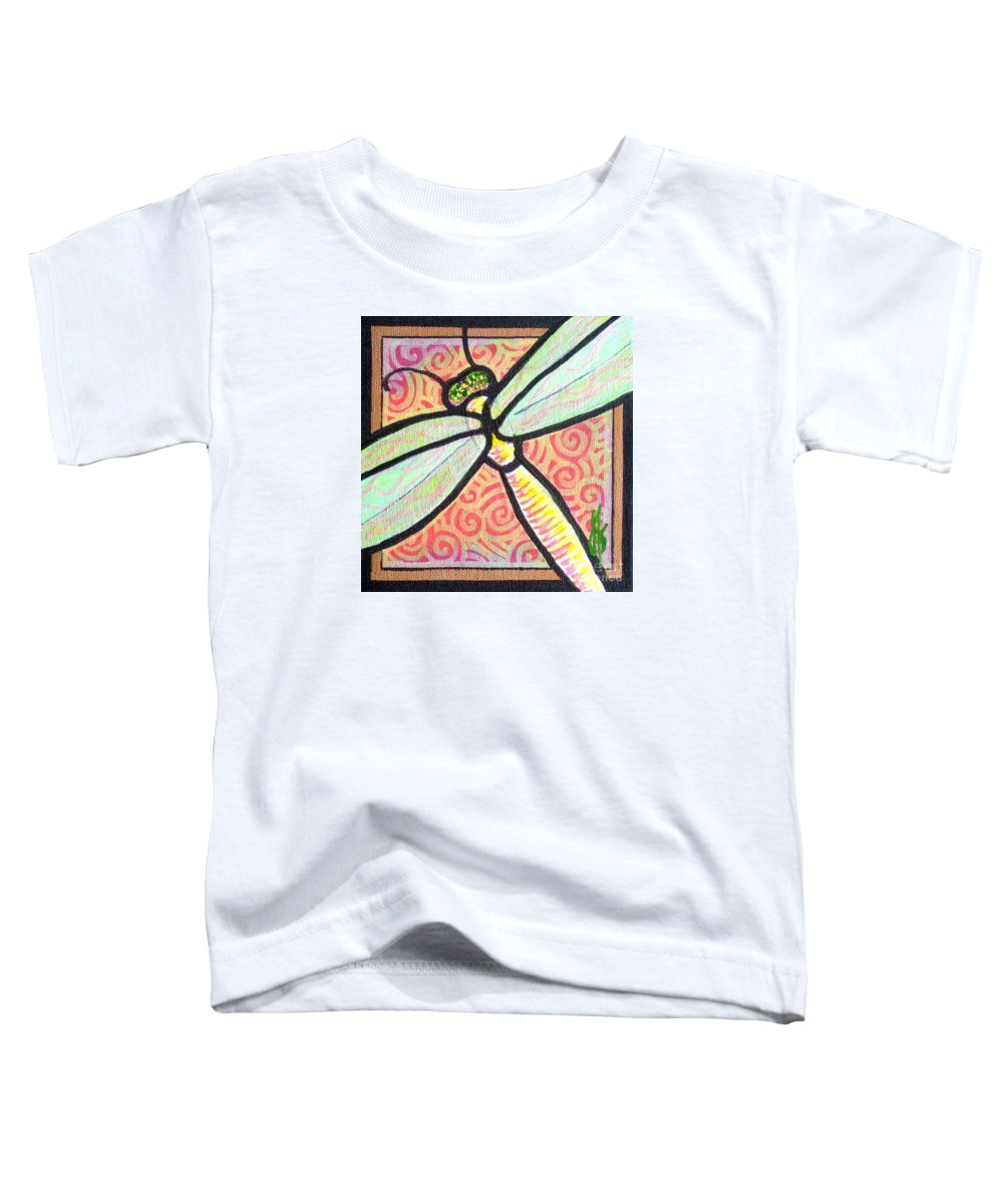 Dragonfly Toddler T-Shirt featuring the painting Dragonfly Fantasy 3 by Jim Harris