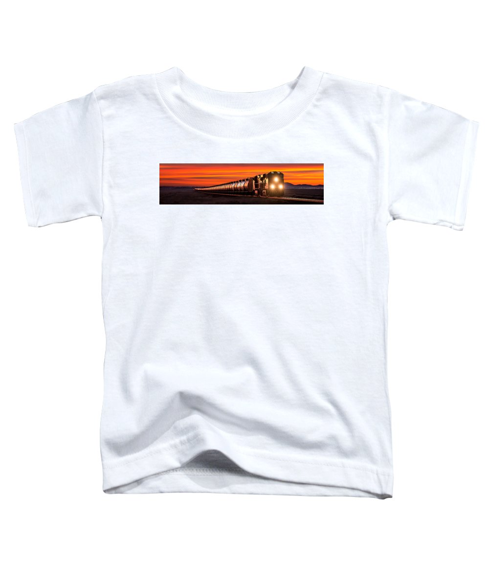 Bnsf Toddler T-Shirt featuring the photograph Early Morning Haul Panorama by Todd Klassy
