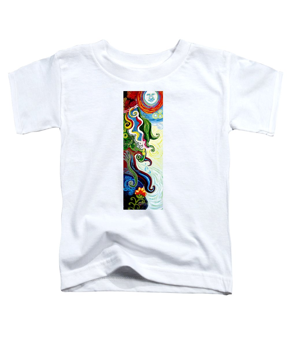 Mother Earth Toddler T-Shirt featuring the painting Earths Tears by Genevieve Esson