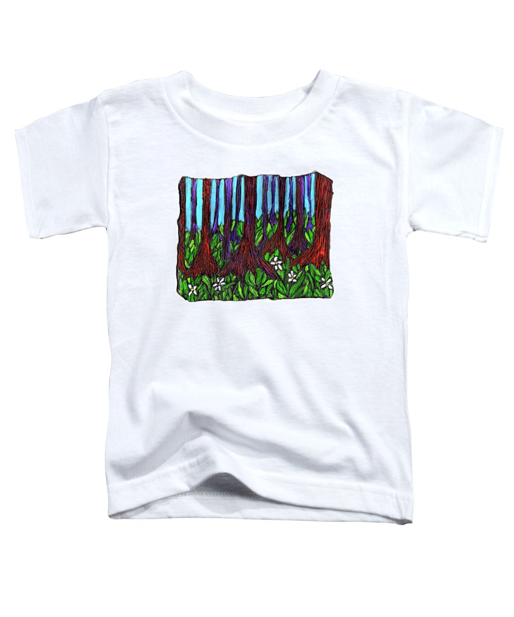 Trees Toddler T-Shirt featuring the painting Edge Of The Swamp by Wayne Potrafka