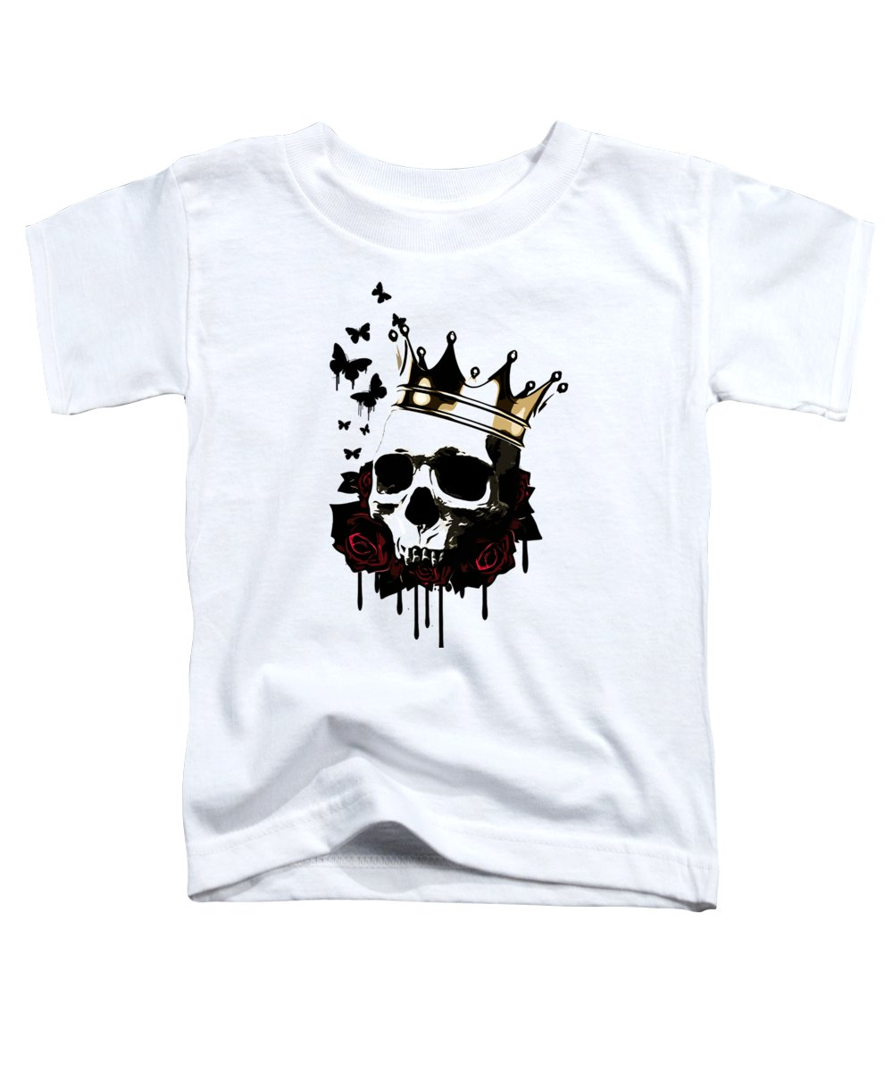 King Toddler T-Shirt featuring the digital art El Rey De La Muerte by Nicklas Gustafsson