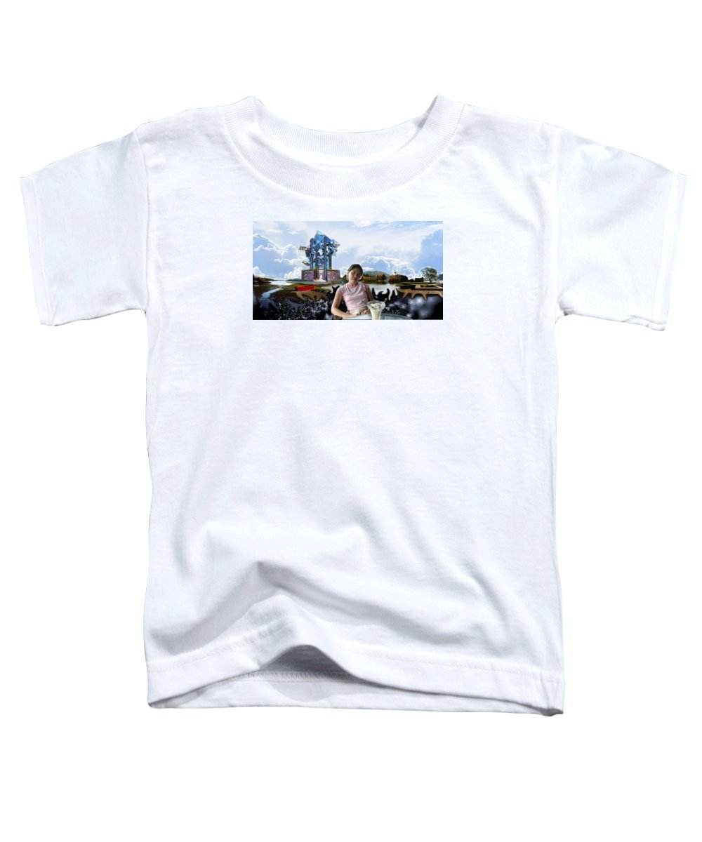 Spacem Maine Toddler T-Shirt featuring the digital art Emma's Afternoon Snack by Dave Martsolf