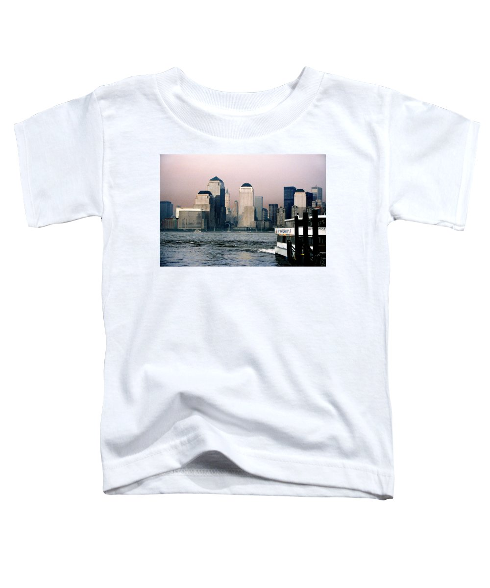 New York Toddler T-Shirt featuring the photograph Empty Sky by Steve Karol