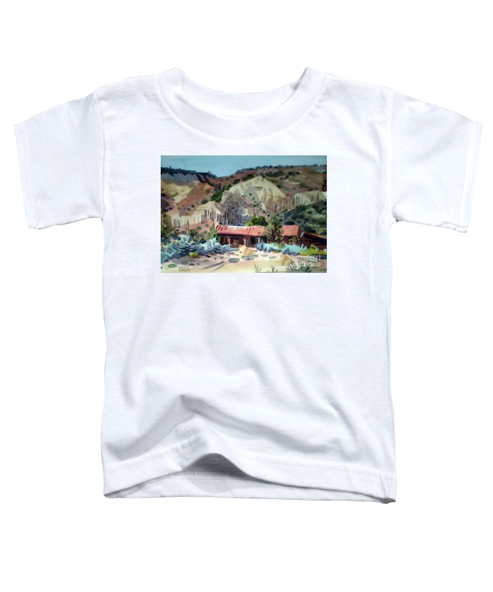 New Mexico Toddler T-Shirt featuring the painting Espanola On The Rio Grande by Donald Maier