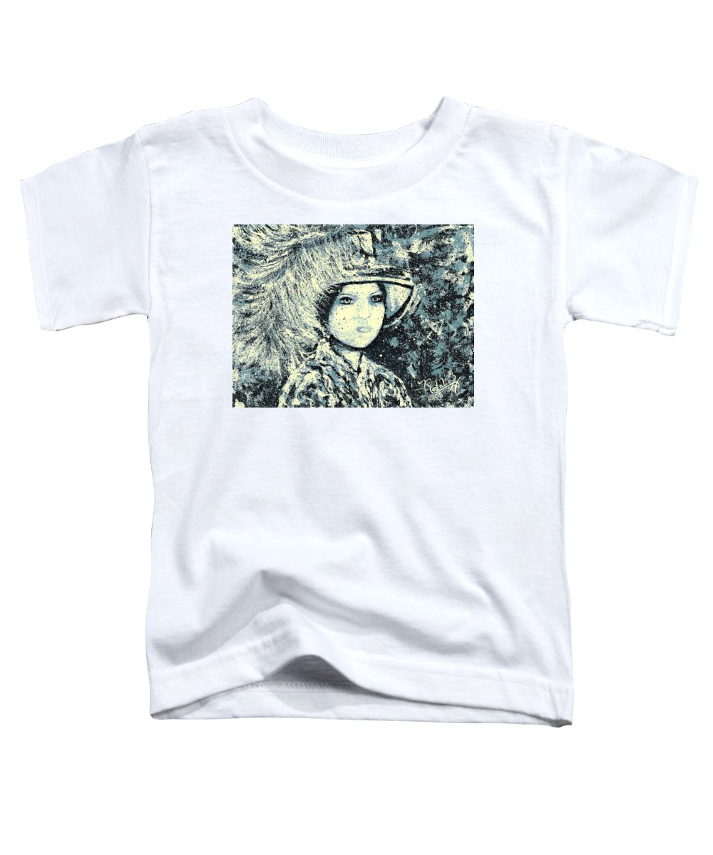 Woman Toddler T-Shirt featuring the painting Evalina by Natalie Holland