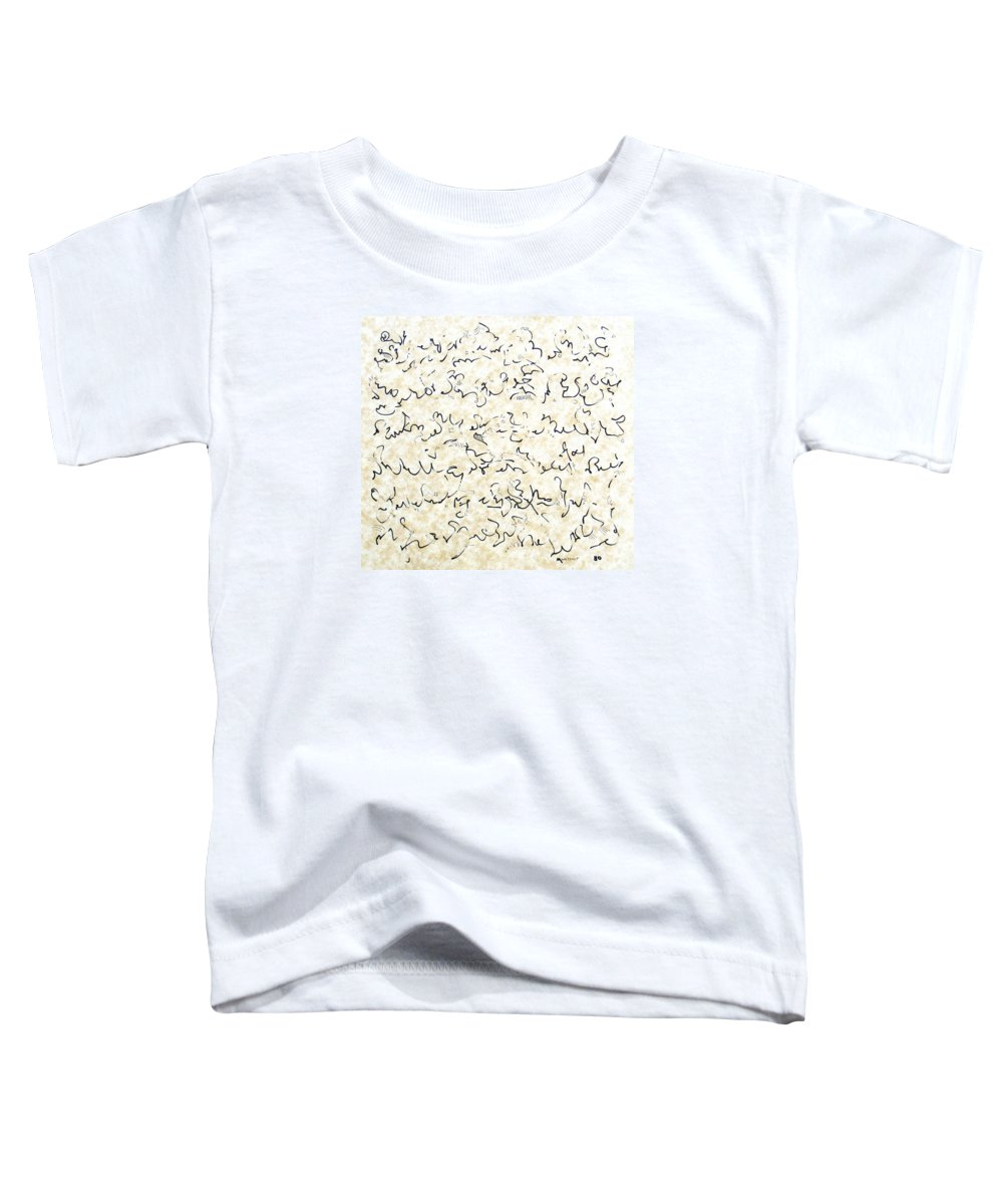 Calligraphy Toddler T-Shirt featuring the drawing Executive Summary With Notes by Dave Martsolf