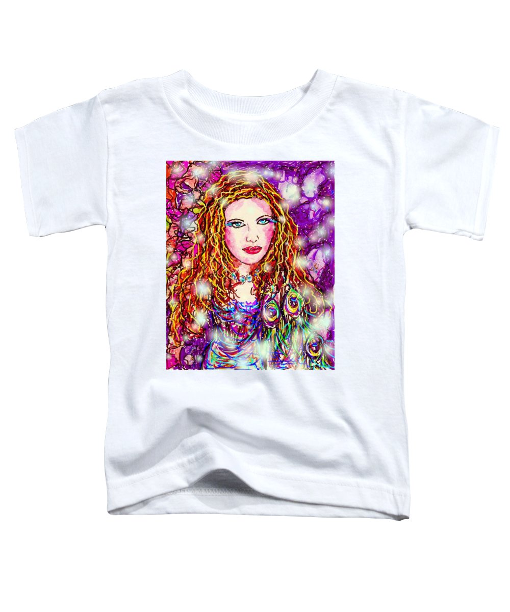 Female Toddler T-Shirt featuring the digital art Fancy Lady by Natalie Holland