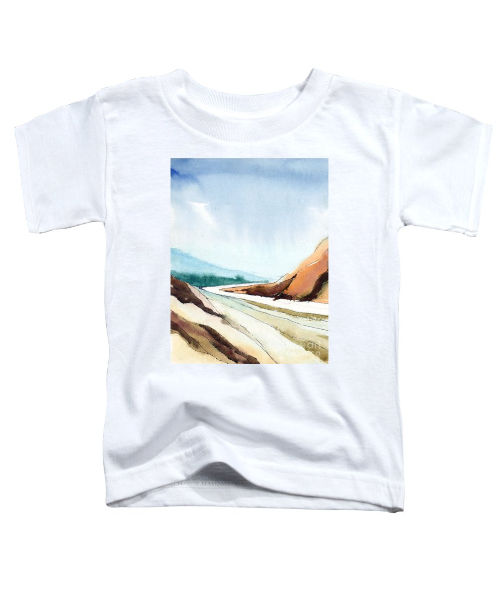 Landscape Toddler T-Shirt featuring the painting Far Away by Anil Nene