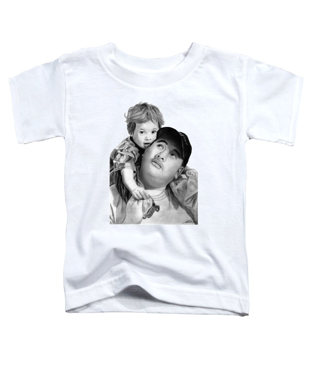 Father And Son Toddler T-Shirt featuring the drawing Father And Son by Peter Piatt