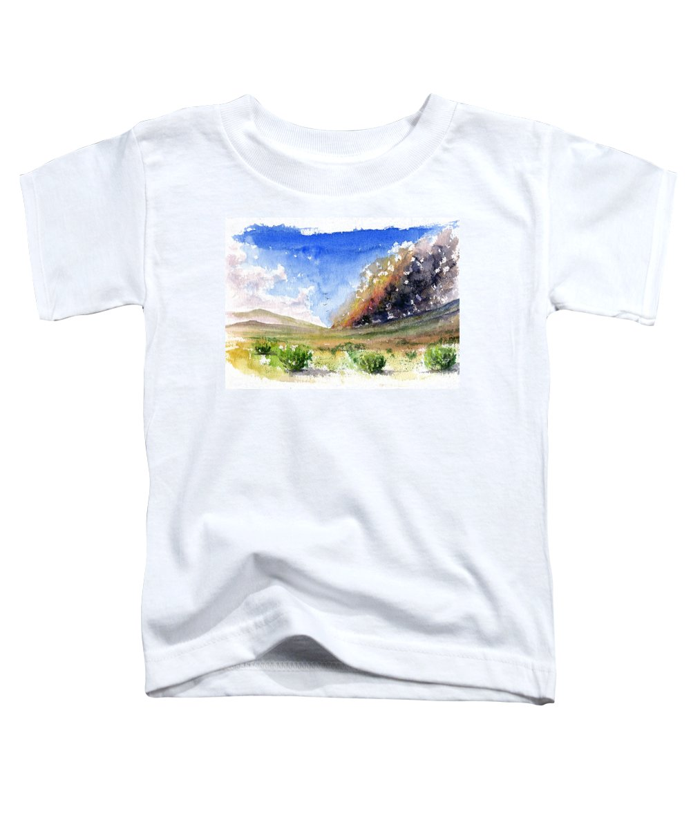 Fire Toddler T-Shirt featuring the painting Fire In The Desert 1 by John D Benson