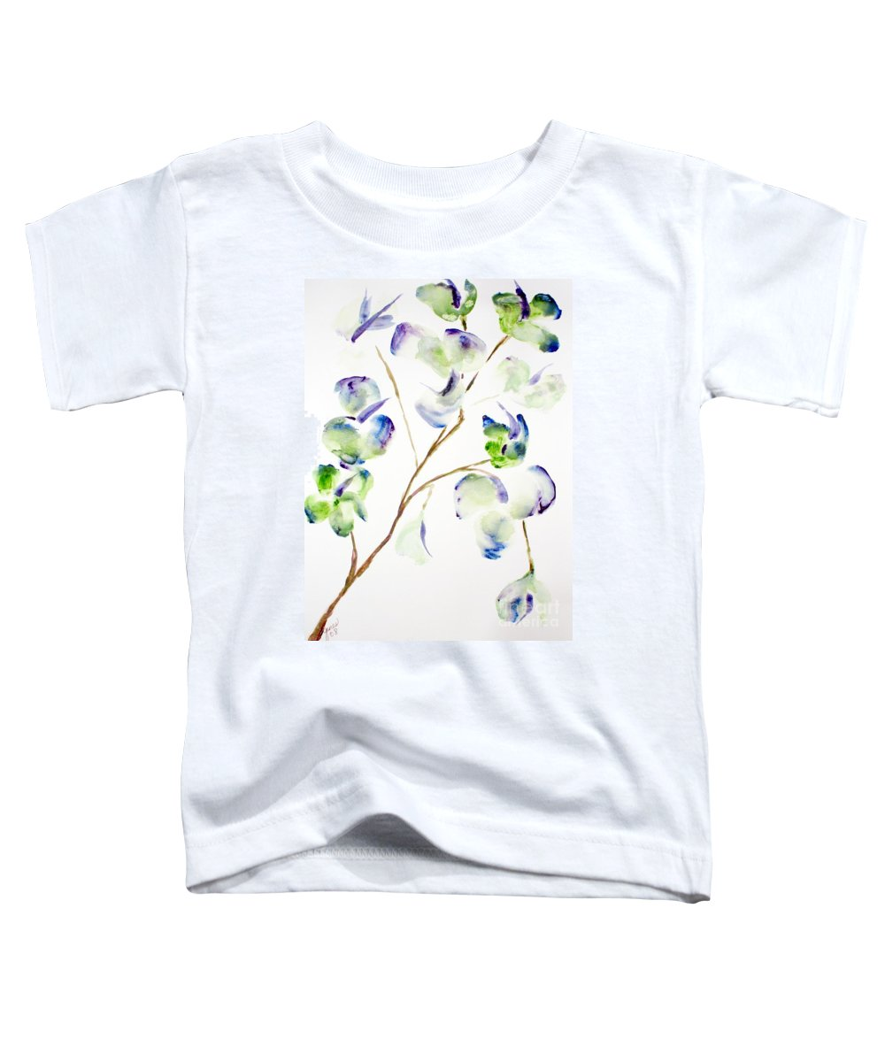 Flower Toddler T-Shirt featuring the painting Flower by Shelley Jones