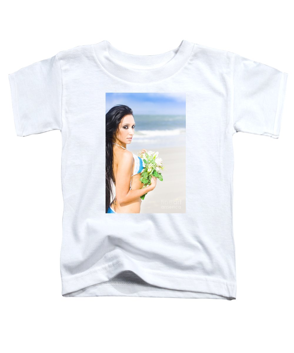 Female Toddler T-Shirt featuring the photograph Flower Woman by Jorgo Photography - Wall Art Gallery