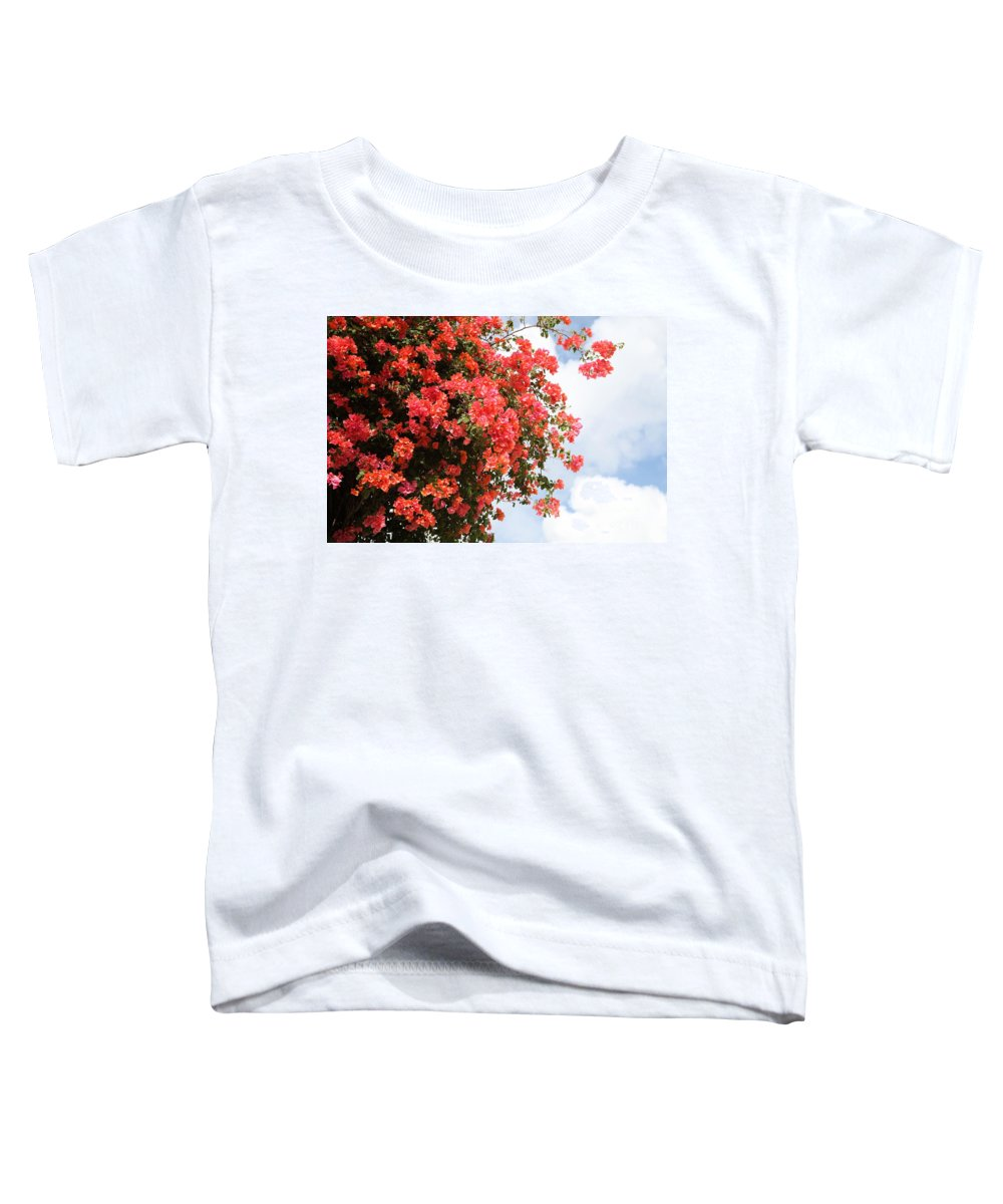 Hawaii Toddler T-Shirt featuring the photograph Flowering Tree by Nadine Rippelmeyer