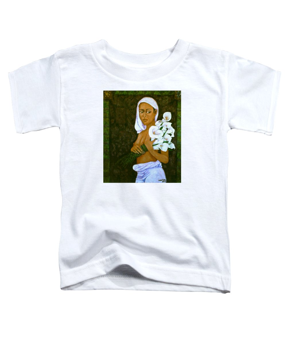 Love Toddler T-Shirt featuring the painting Flowers For An Old Love by Madalena Lobao-Tello