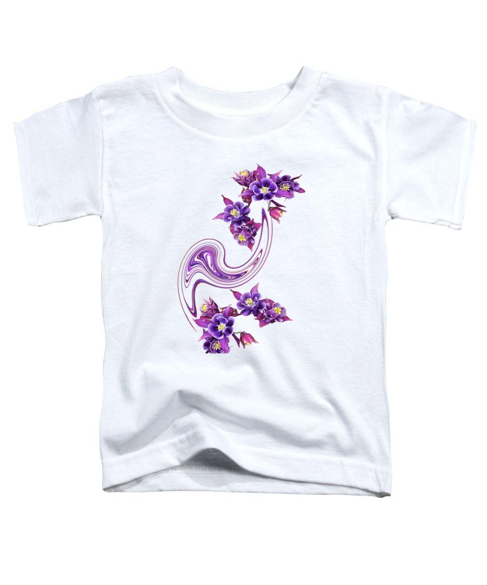 Purple Flower Toddler T-Shirt featuring the photograph Flowing Purple Velvet 2 by Gill Billington