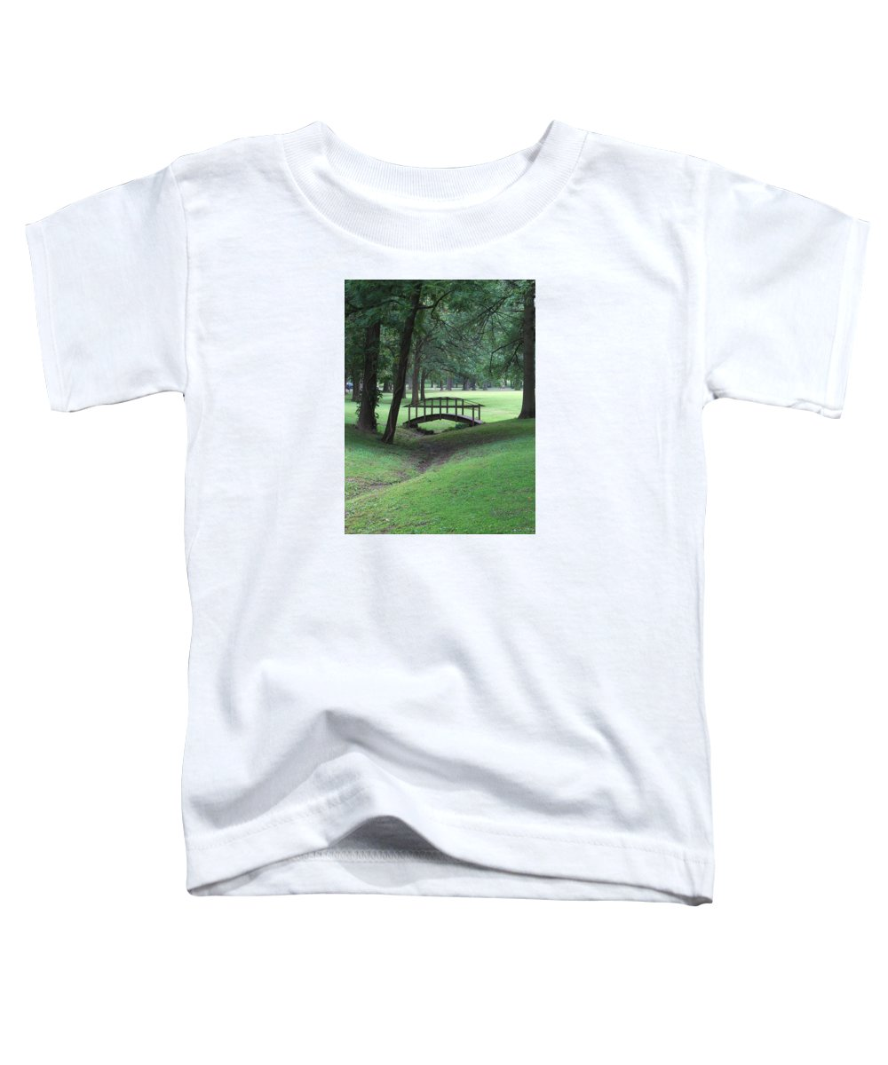 Bridge Toddler T-Shirt featuring the photograph Foot Bridge In The Park by J R Seymour