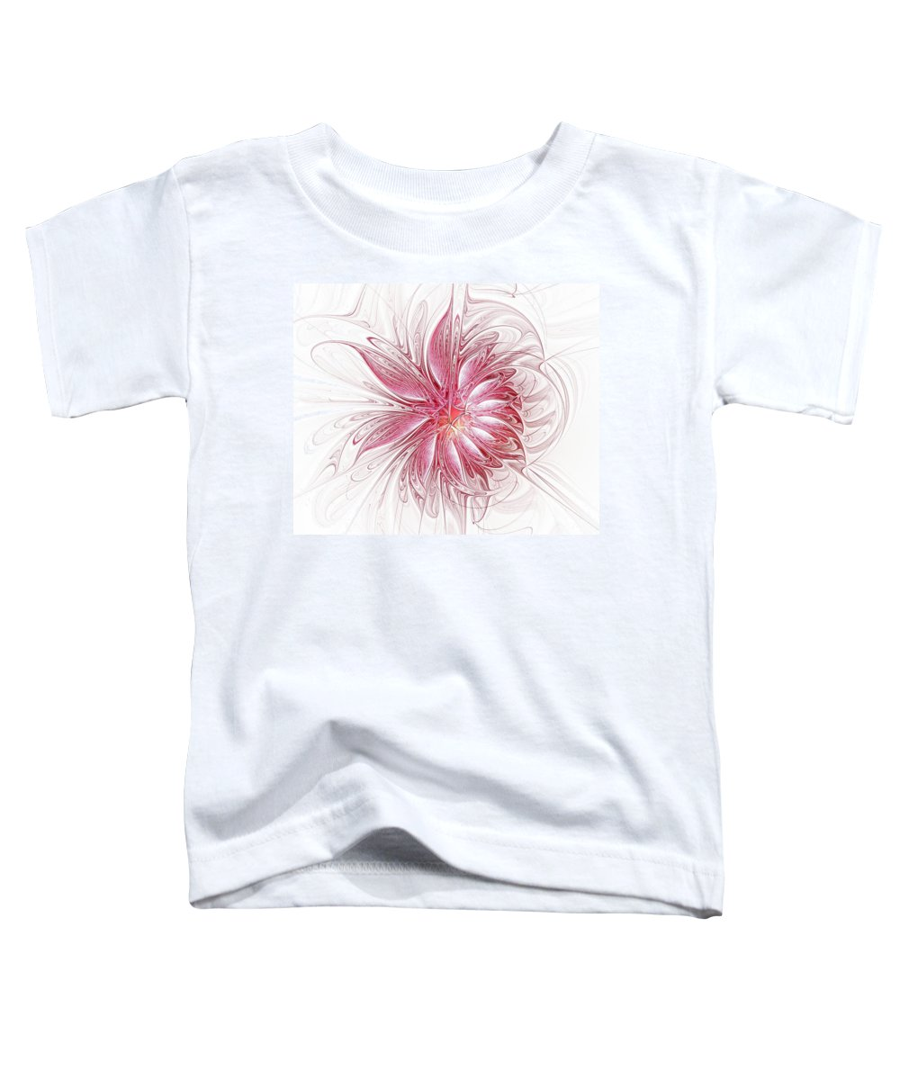Digital Art Toddler T-Shirt featuring the digital art Fragile by Amanda Moore