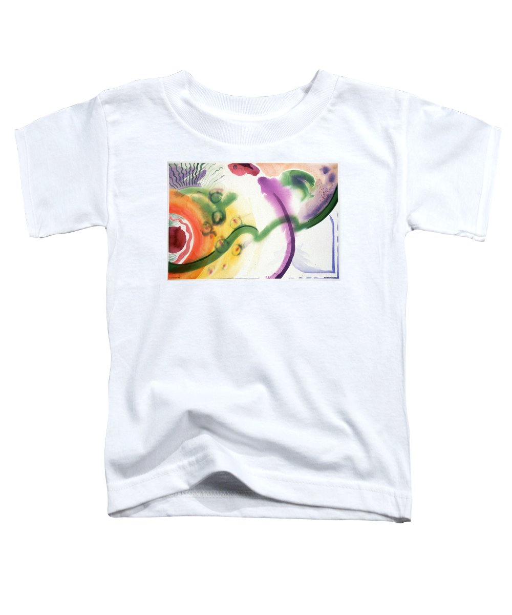 Abstract Toddler T-Shirt featuring the painting Geomantic Blossom Ripening by Eileen Hale