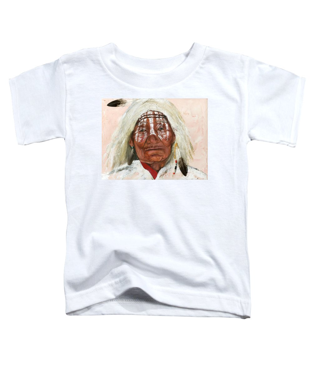 Southwest Art Toddler T-Shirt featuring the painting Ghost Shaman by J W Baker