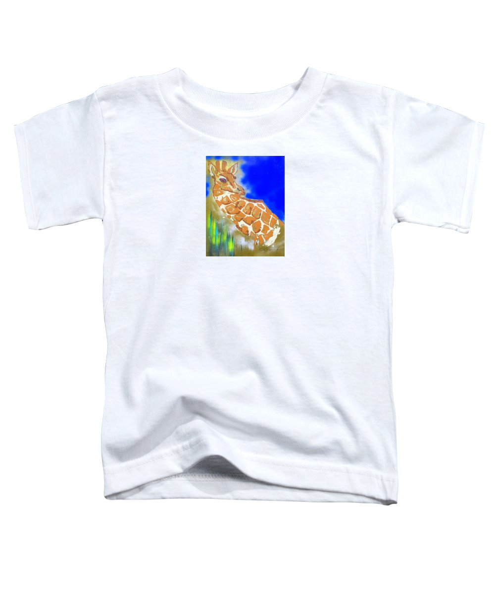 Impressionist Painting Toddler T-Shirt featuring the painting Giraffe by J R Seymour