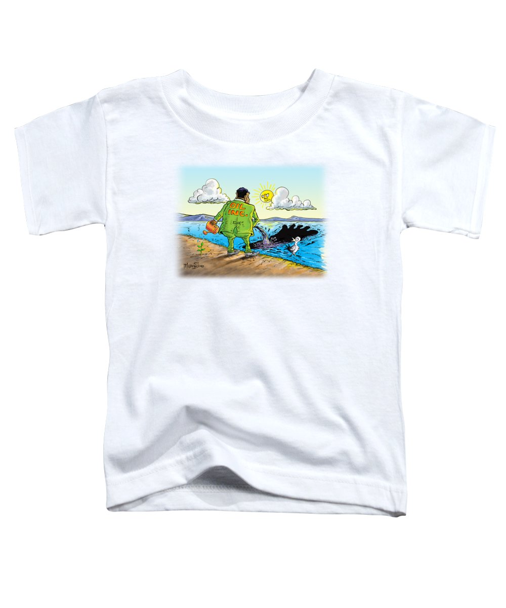 Oil Toddler T-Shirt featuring the painting Giving Back To The Environment by Anthony Mwangi
