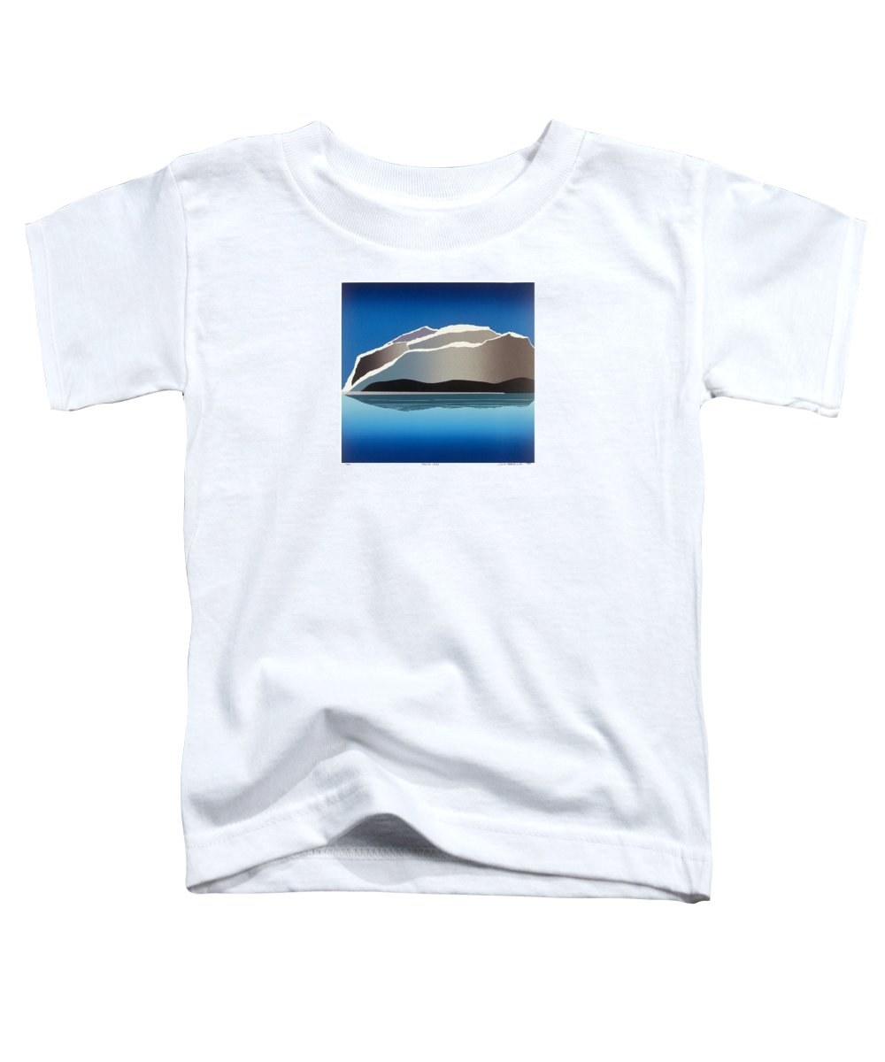 Landscape Toddler T-Shirt featuring the mixed media Glaciers by Jarle Rosseland