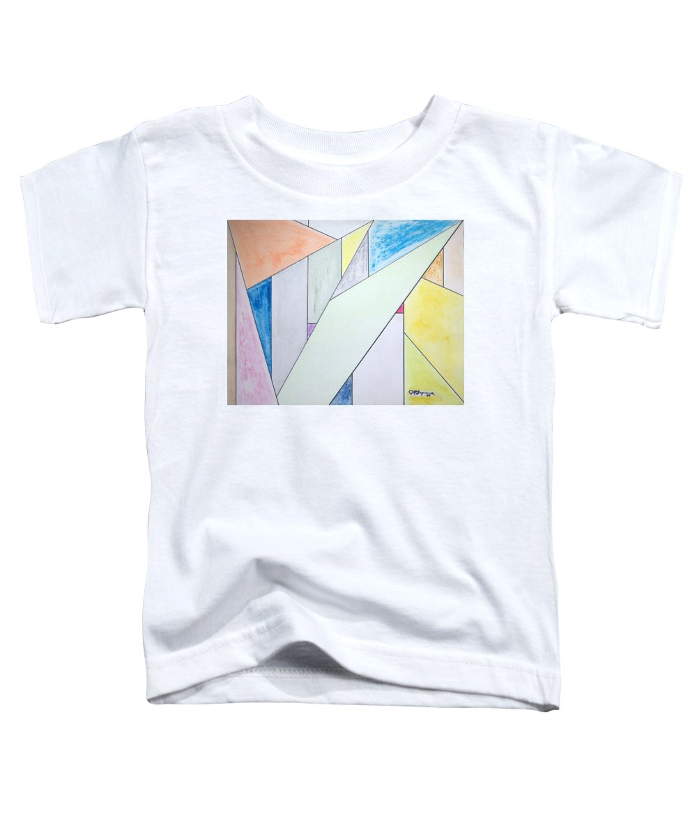 Buildings Toddler T-Shirt featuring the mixed media Glass-scrapers by J R Seymour
