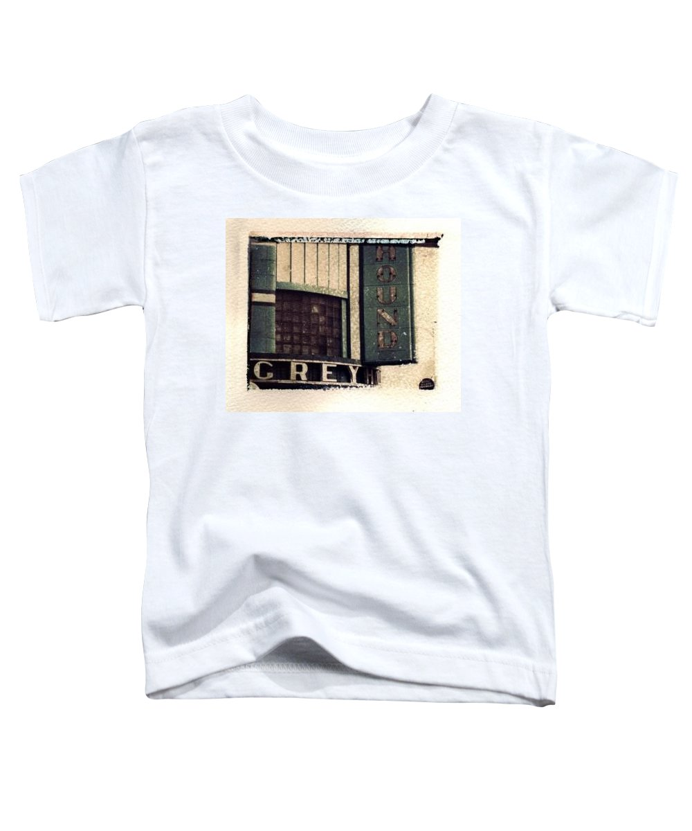 Polaroid Transfer Toddler T-Shirt featuring the photograph Go Greyhound And Leave The Driving To Us by Jane Linders