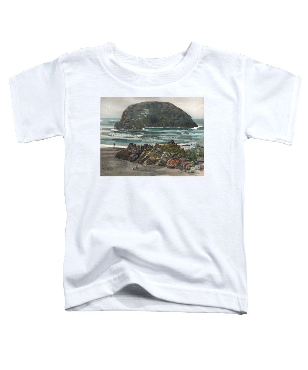 Goat Rock Toddler T-Shirt featuring the painting Goat Rock by Donald Maier